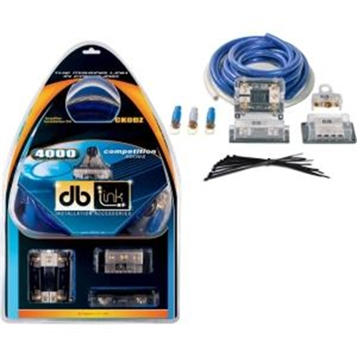 db Link Ck0dz 0-Gauge Competition Series 0-Gauge Amplifier Installation Kit, 4000W