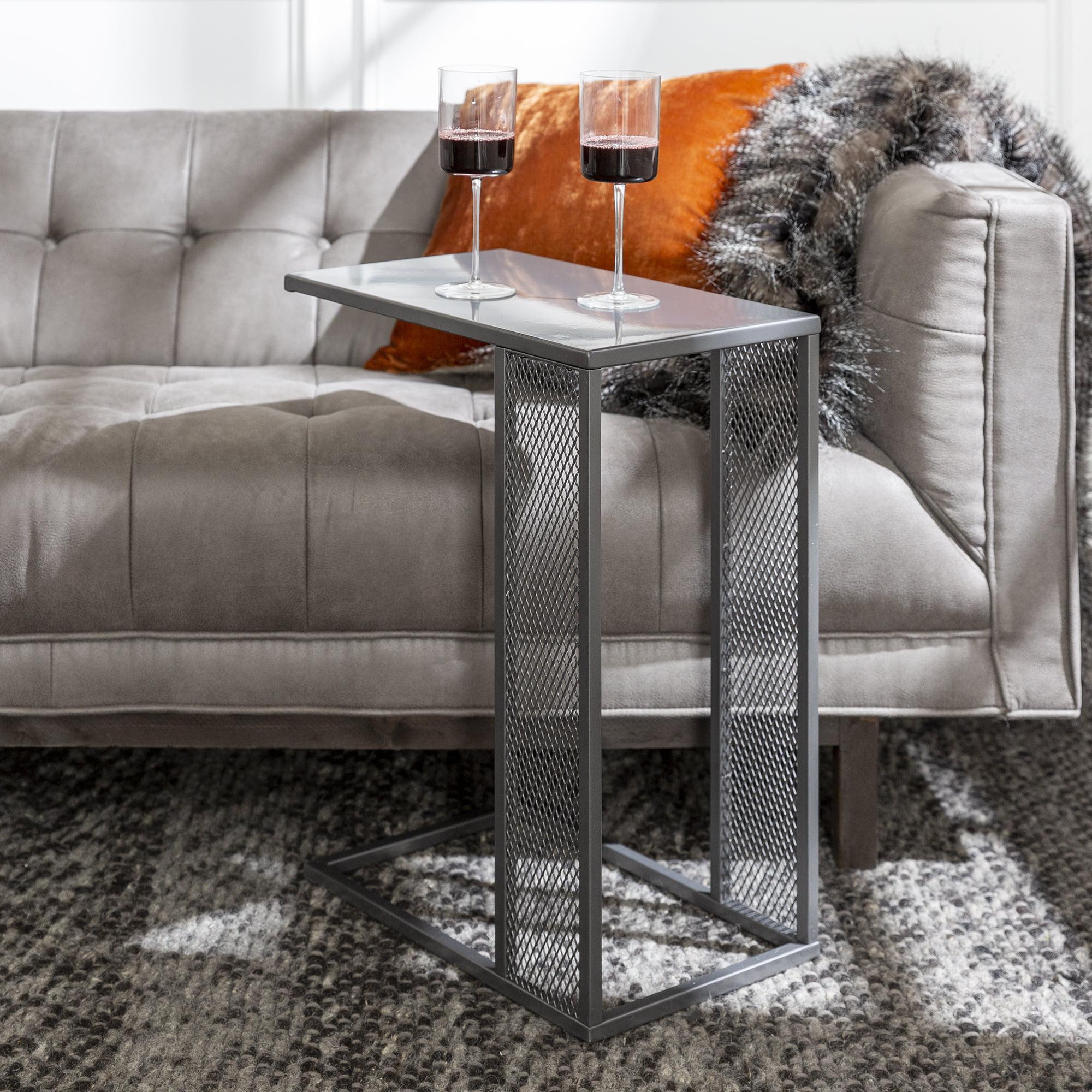 Brigham Mesh Metal C-Table by River Street Designs