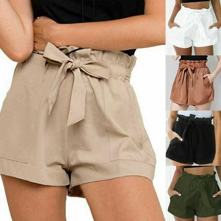 Mini Skirt Skort Shorts - Multitrust Women Hot Pants Summer Casual Loose Shorts Mini Skirt High Waist Short Trousers