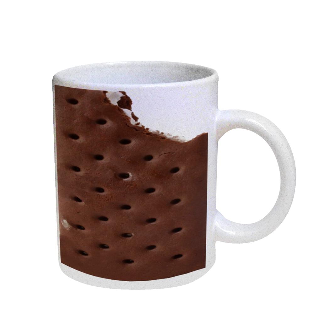 KuzmarK Coffee Cup Mug Pearl Iridescent White - Ice Cream Sandwich