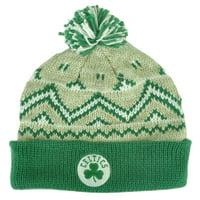 05877ee314f Product Image NBA Adidas Boston Celtics KE76Z Green Alpine Cuffed Pom Knit  Beanie Toque Hat