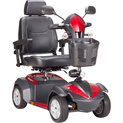 "Drive Medical Ventura Power Mobility Scooter, 4 Wheel, 20"" Captains Seat"
