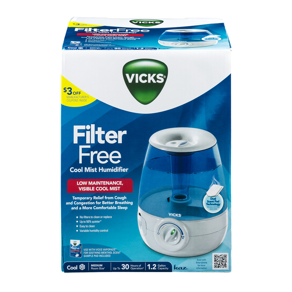 Vicks Filter Free Cool Mist Humidifier 1.0 CT | Onsales11.com