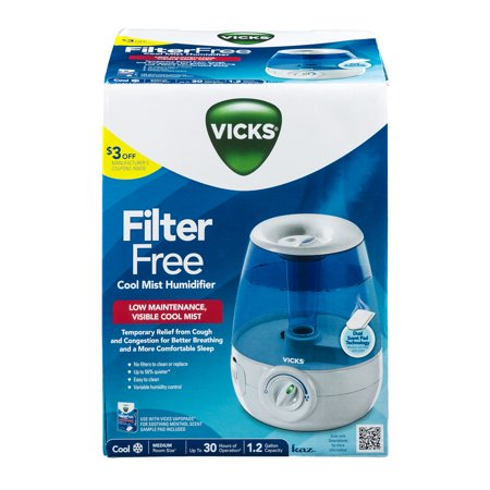 Vicks Filter Free Cool Mist Humidifier  1 0 Ct
