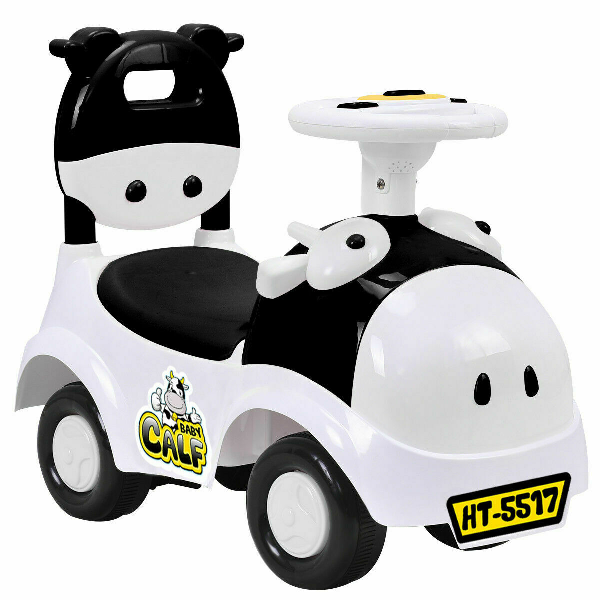 Gymax 3-in-1 Sliding Car Pushing Cart Walker Toddlers Ride On Toy Baby Calf w  Sound by Gymax
