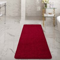 Product Image Ottomanson Luxury Non Slip Rubber Backing Solid Shag Area Rugs And Runners For Kitchen