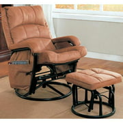 A Line Furniture Trango Swivel Glider Recliner Ottoman Set