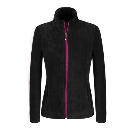 (RYSTE Cyber Week Monday !  Women Casual Stand Neck Long Sleeve Fleece Zip Hoodie Sweatshirt Coat Tops)