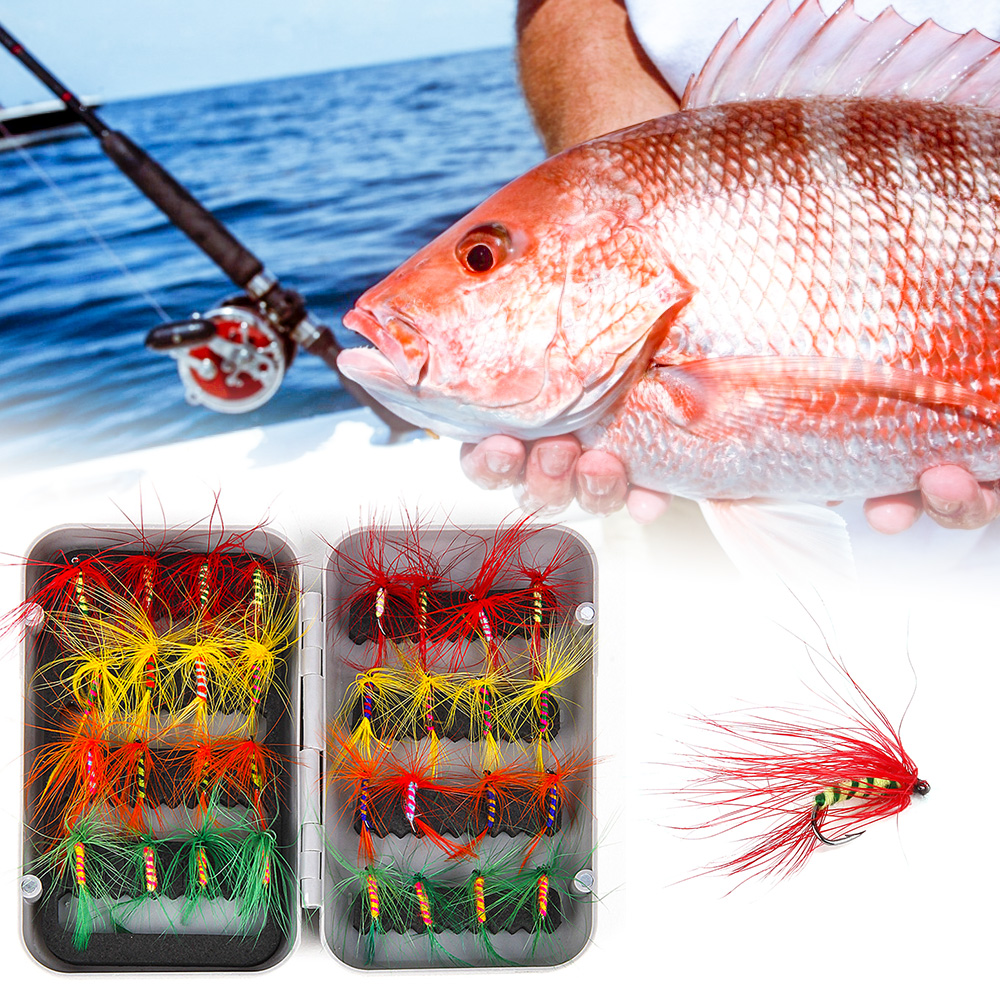 Details about  /12pcs Fly Fishing Lures Set   Hook Lures Trout Salmon Fishing Flies