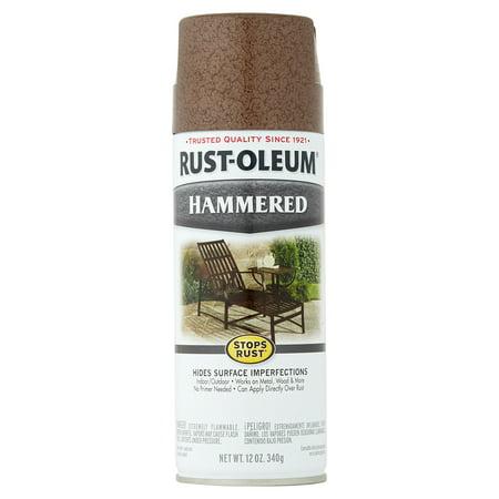 Rust Brown Glaze ((3 Pack) Rust-Oleum® Stops Rust® Hammered Brown Spray Paint 12 oz.)