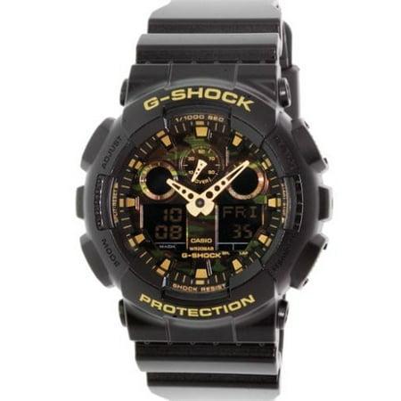Black Rubber Watch - Casio Men's G-Shock GA100CF-1A9 Black Rubber Quartz Watch