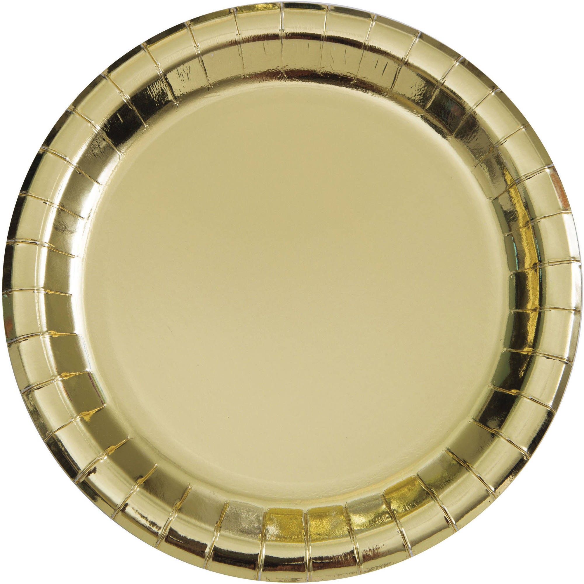 Paper Plates 9 in Gold Foil 8ct  sc 1 st  Walmart & 9