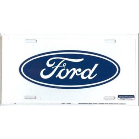 Ford Oval Logo License Plate - Oval License Plate