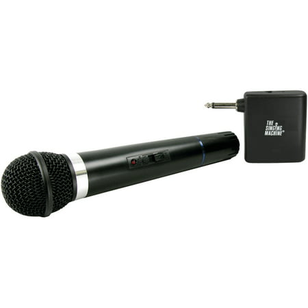 The Singing Machine SMM-107 Unidirectional Dynamic VHF Wireless Microphone With Microphone
