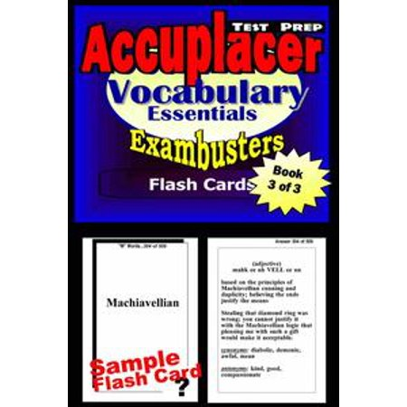 - Accuplacer Test Prep Vocabulary Review--Exambusters Flash Cards--Workbook 3 of 3 - eBook