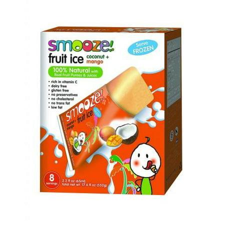 (Smooze Smo Ouncee Fruit Ice Coconut With Mango 17.6 Ounce)