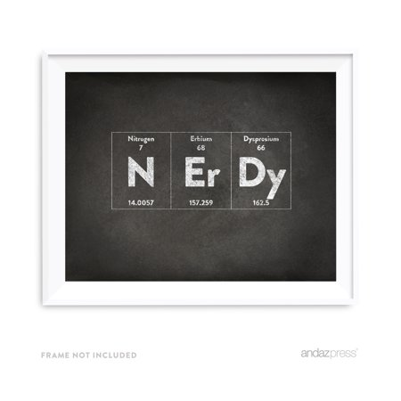 Nerdy Periodic Table of Elements Vintage Chalkboard Wall Art Décor (Vintage Periodic Table)