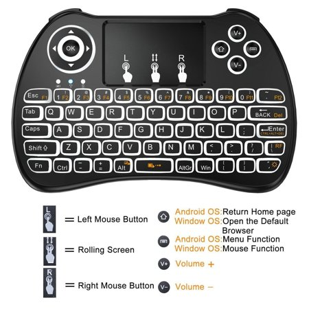 hyfai h9 mini keyboard 2 4ghz wireless multi media portable keyboard air remote for pc notebook. Black Bedroom Furniture Sets. Home Design Ideas