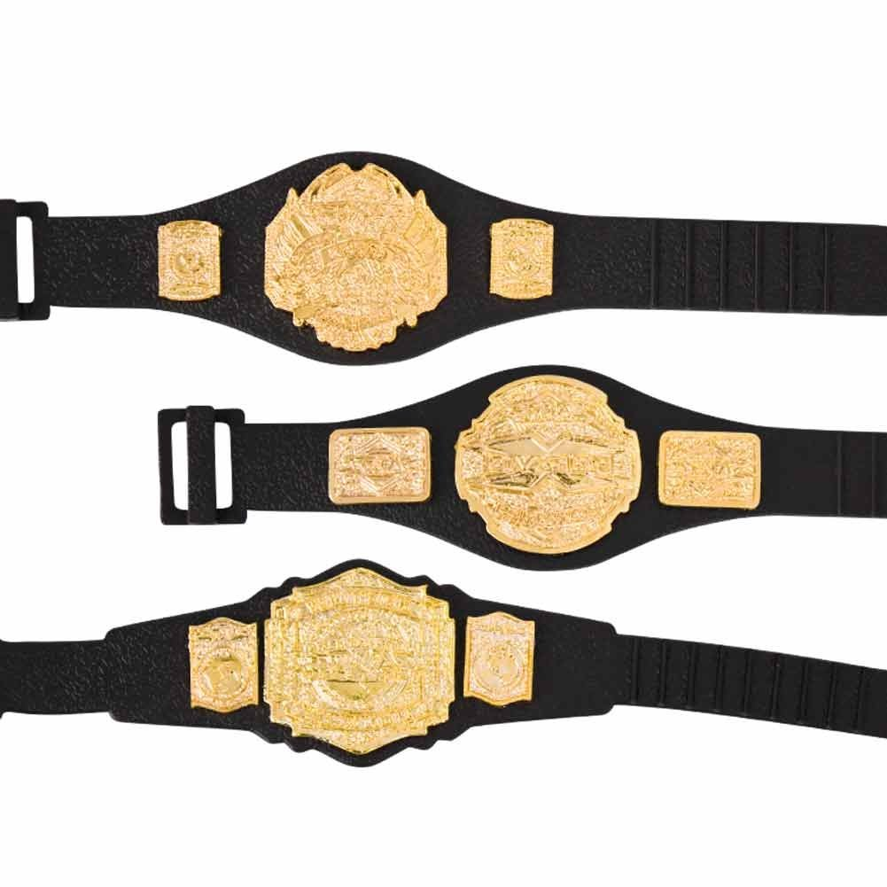 TNA Action Figure Belts Set of 3