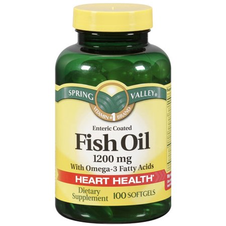spring valley fish oil dietary supplement 1200mg softgels