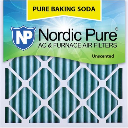 Nordic Pure 25x25x2PBS-3 Pure Baking Soda Odor Deodorizing AC Air Filters, 25 x 25 x 2 in. - Pack of 3 - image 1 of 1