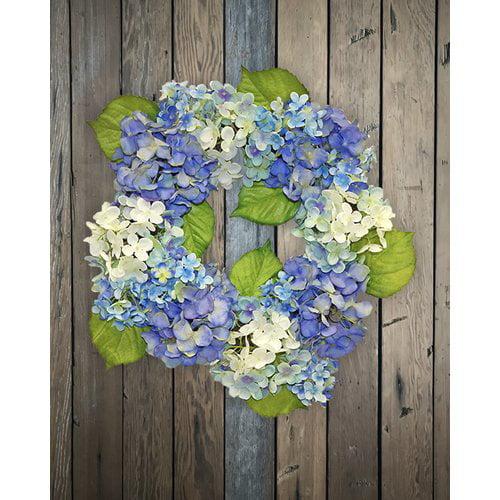 Highland Dunes Hydrangea Blossom 24'' Wreath