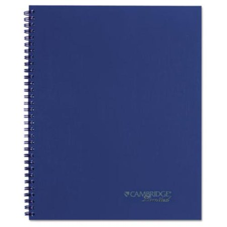 Mead 45009 Side Bound Guided Business Notebook  7 1 4 X 9 1 2  Navy Blue  80 Sheets