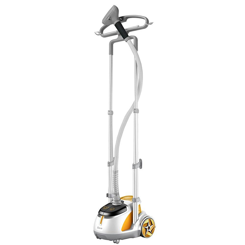 SALAV GS45-DJ Orange Professional Series Dual Bar Garment Steamer with Foot Pedals by