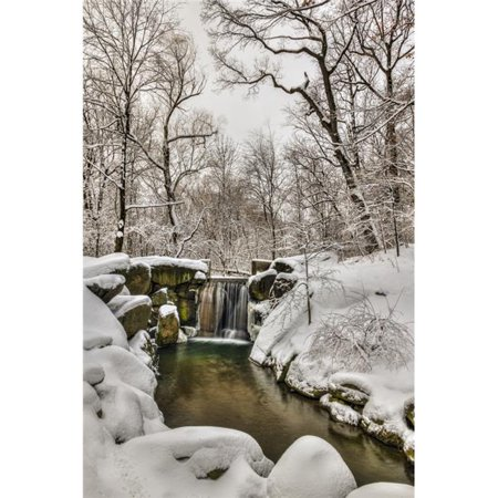 Posterazzi DPI12275729 Snow-Covered Waterfall in The Loch Central Park - New York City United States of America Print - 12 x 19