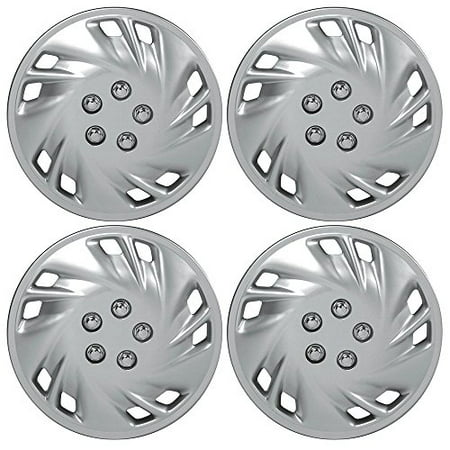 """Custom Accessories 82802 Viper 15"""" Wheel Cover with Chrome Nut, Set of 4"""