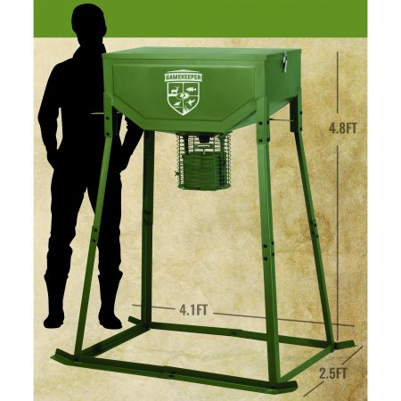 Mossy Oak GameKeeper 200lb Capacity Steel Deer Feeder
