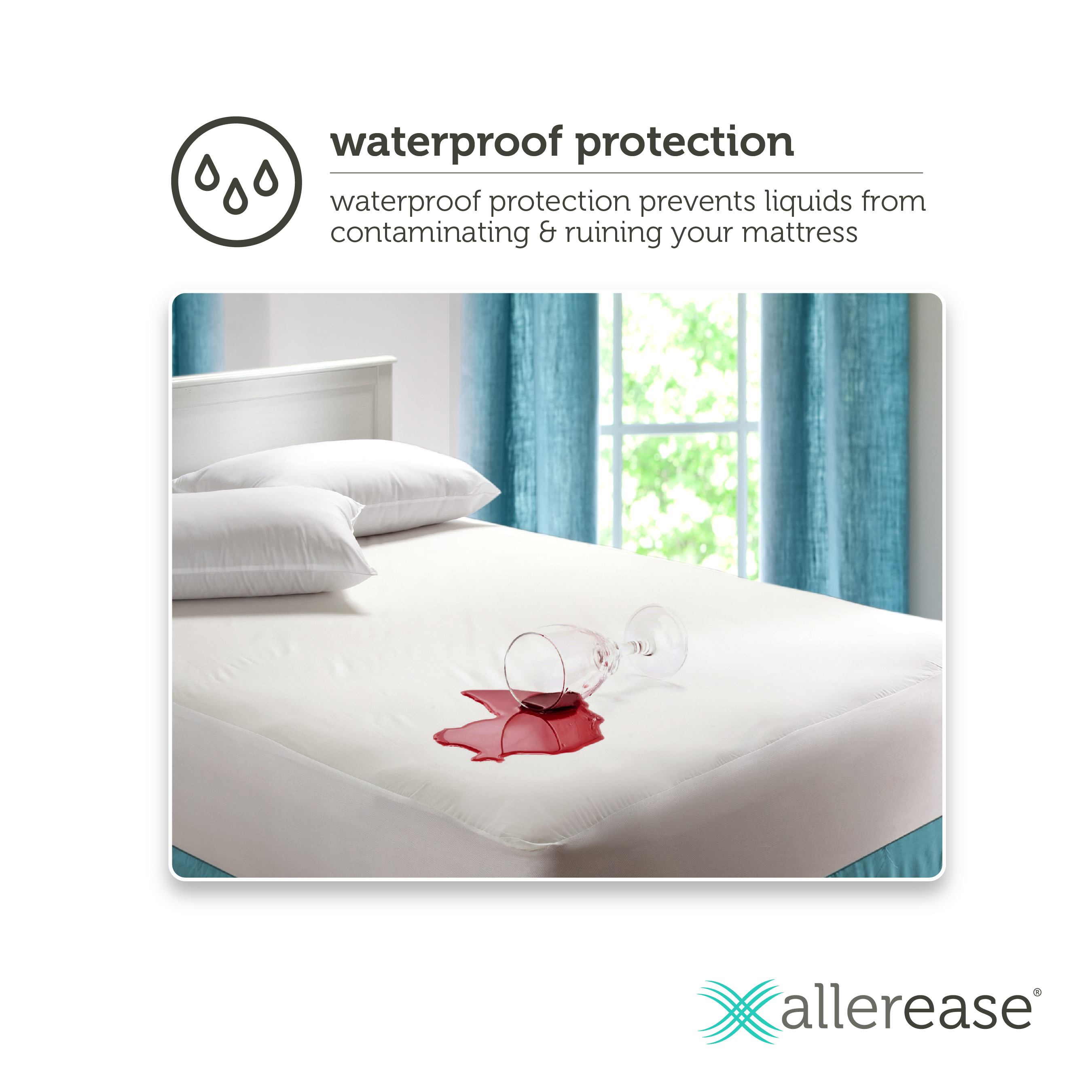 Perfect Mainstays Waterproof Fitted Vinyl Mattress Protector   Walmart.com
