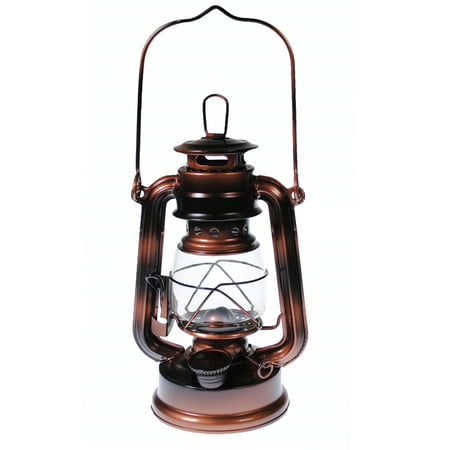 Hurricane Kerosene Oil Lantern Emergency Hanging Light Lamp - Brass - 8 Inch