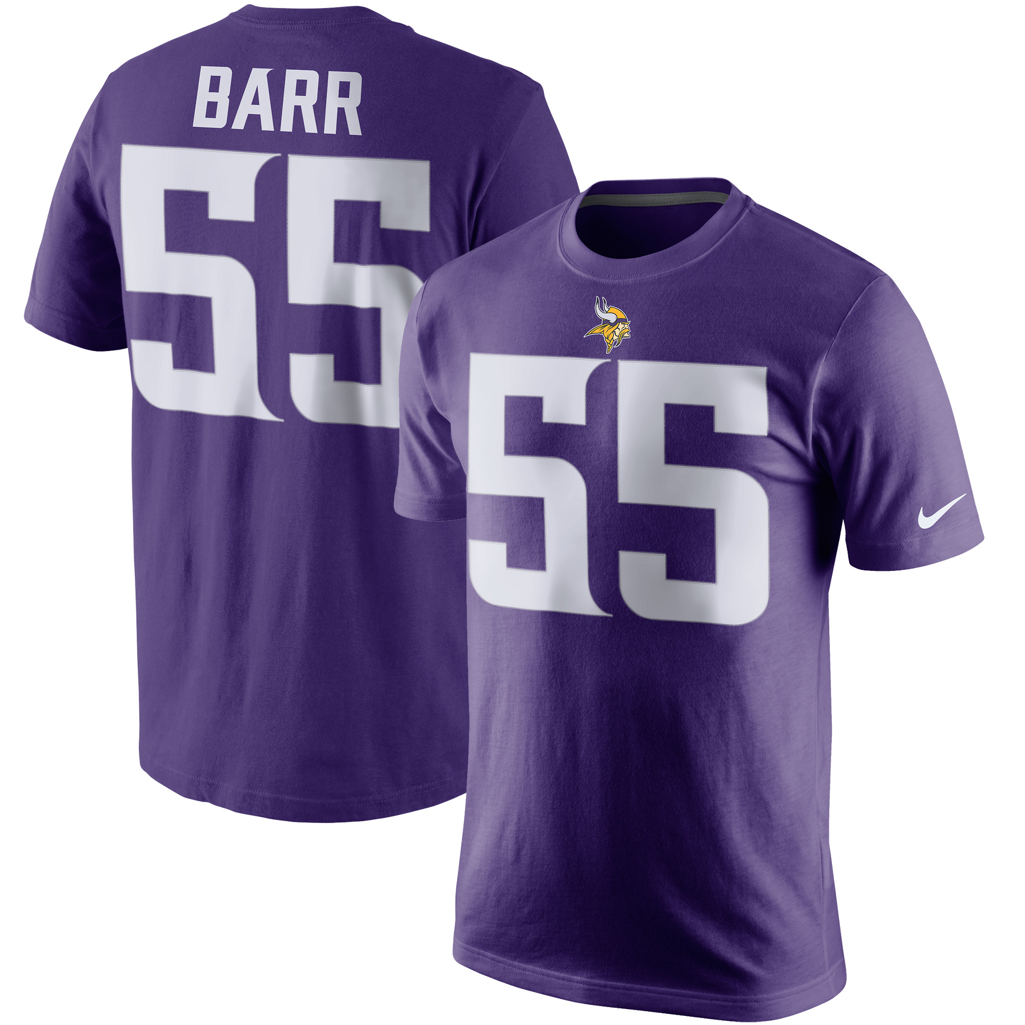 Anthony Barr Minnesota Vikings Nike Player Pride Name & Number T-Shirt - Purple