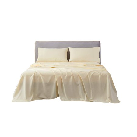 4pc Super Single Size Un-Attached Waterbed Sheets with 15 Inch Deep Pocket Solid Ivory - 1500 Series Brushed Microfiber Hotel Quality Bed Sheets for Waterbed by The Great American Store