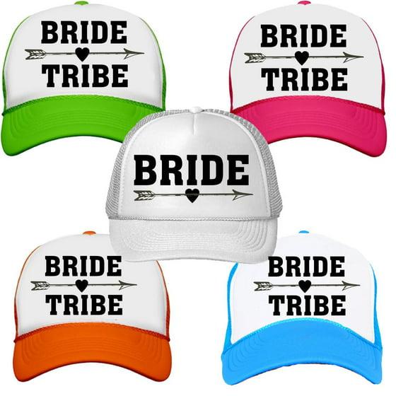 70356ed4205 Custom Apparel R Us - Bride Tribe Neon Trucker Snapback Hats ...