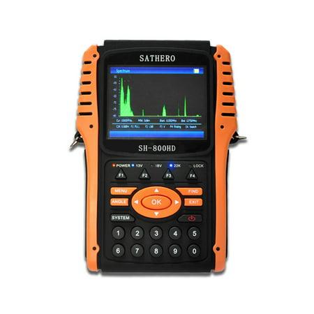 SATHERO SH-800HD Global Universal TV Signal Finder Meter DVB-S/ Full HD 1080P Digital Meter H.264 MPEG-4 with 3.5 Inch LCD Display 2550mAh Battery 37 Lcd Full Hdtv
