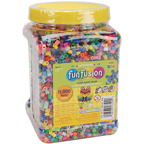 Perler Fuse Beads Fun Fusion Multi-Mix, 11,000 Pieces