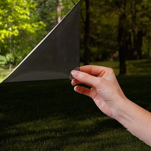 "Gila Daytime Privacy Black Static Cling Window Film, 36"" x 15'"