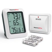 ThermoPro TP60 Wireless Thermometer Indoor Outdoor Digital Thermometer Temperature Humidity Monitor Meter 200ft / 60m Range