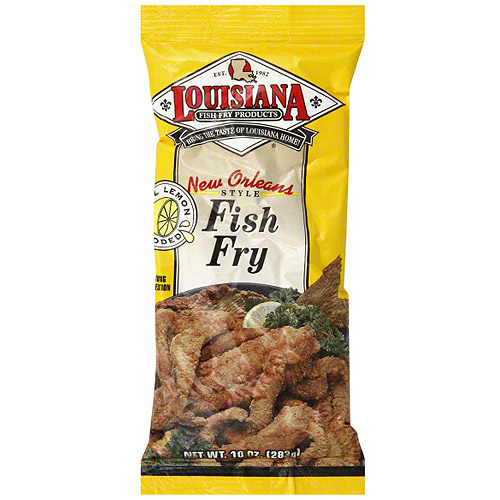 Louisiana Fish Fry Products Fish Fry With Lemon, 10 oz (Pack of 12)
