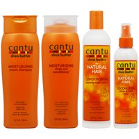 "Cantu Moisturizing Shampoo + Conditioner + Conditioning Hair Lotion + Coconut Mist ""Set"""