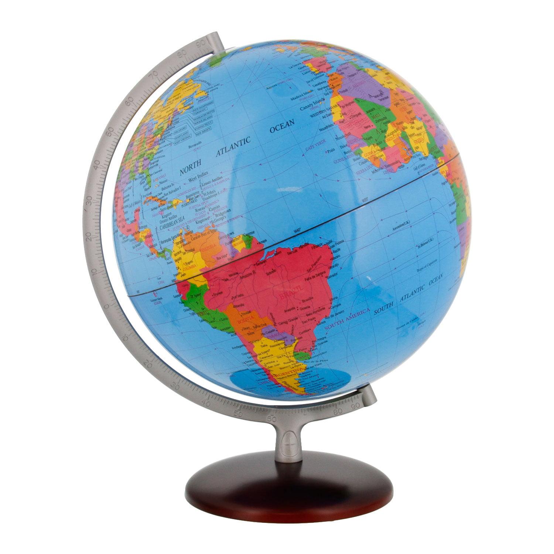 "12.6"" Inch (32cm) Large Premium Blue Ocean Rotating Desktop World Earth Globe"