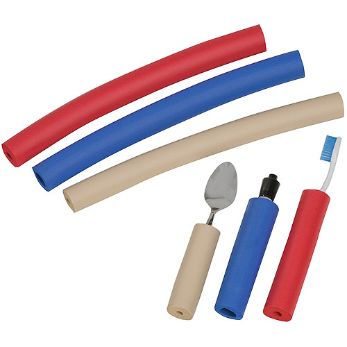 DMI Closed-Cell Foam Tube for Utensils, Pipe Insulation Foam Tubing, Built Up Foam Handles, Medical Foam Padding, Colored Spoon Grips