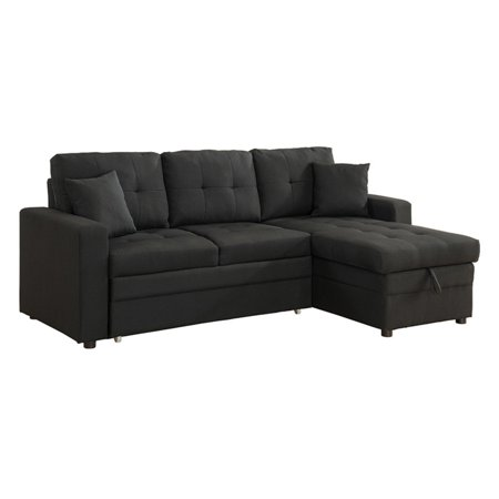 Milton Greens Stars Darwin Sectional Sofa with Storage and Pull Out Bed