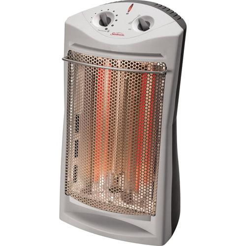 Sunbeam Electric Tower Quartz Heater, Sun-Like Radiant Heat,  SQH310-WM1-115