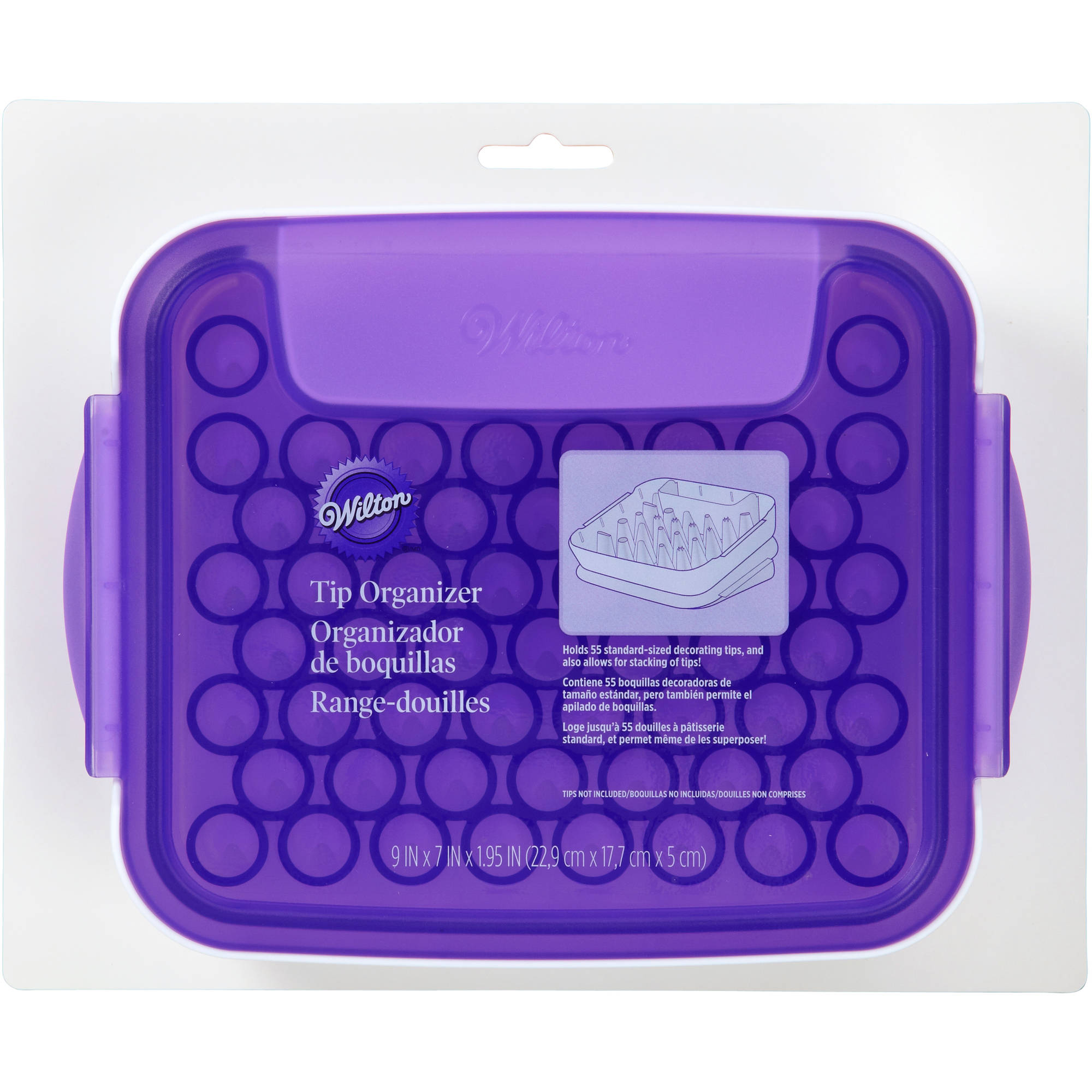 "Wilton 9""x7""x2"" Tip Organizer, White & Purple 405-8784"