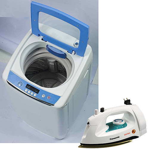 RCA 0.9 cu ft Portable Washer w/ Your Choice of Iron or Garment Steamer
