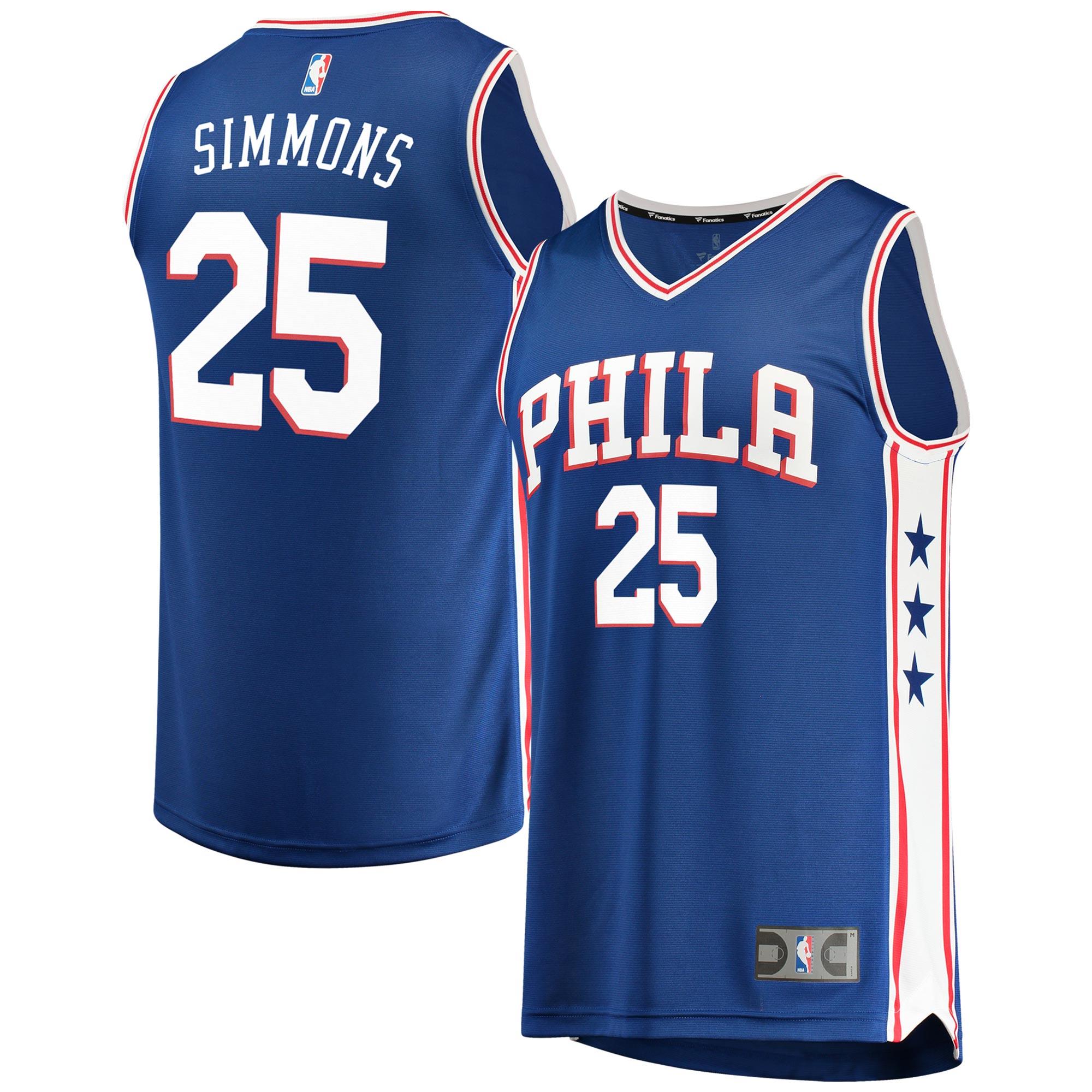 Ben Simmons Philadelphia 76ers Fanatics Branded Youth Fast Break Replica Jersey Royal - Icon Edition