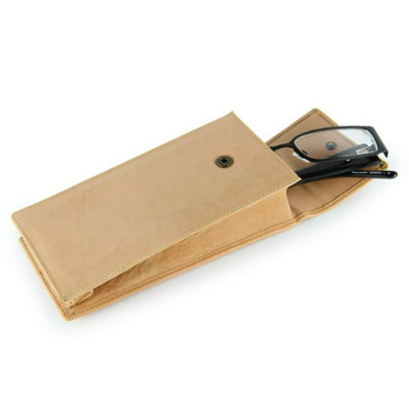 Visconti GC-1 Soft Leather Eye Glasses Case (Sand) [Health and Beauty] (Sand Glass Case)